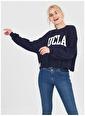 UCLA Ucla Napa Yazı Baskılı Lacivert Kadın Sweatshirt Lacivert